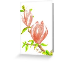 ACEO Two Magnolia Blossoms Greeting Card
