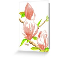 ACEO Three Magnolia Blossoms Greeting Card