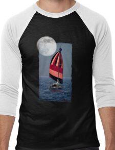Moonlight Sail Men's Baseball ¾ T-Shirt