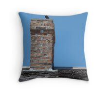 Bird on chimney Throw Pillow