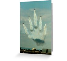 The hand of ???? Greeting Card