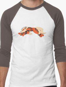 Cool Running Arcanine  Men's Baseball ¾ T-Shirt