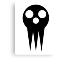 Soul Eater Skull - Black Canvas Print