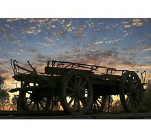 Camel Wagon Photographic Print