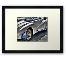 Ride the wave Framed Print