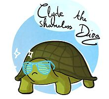 Clyde the tortoise by pinkwa