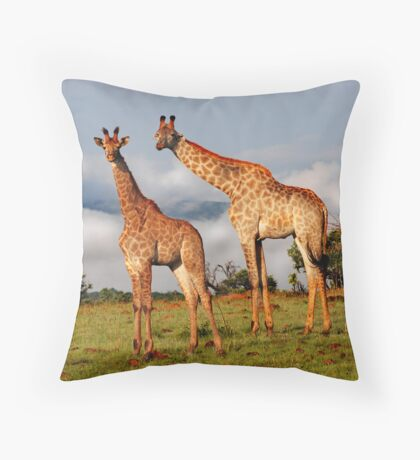 Heads in the clouds Throw Pillow