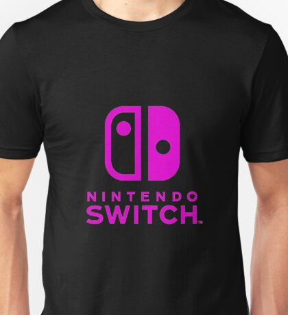 Nintendo Switch Pink Unisex T-Shirt