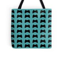 Video Game Controller Silhouette Pattern Tote Bag