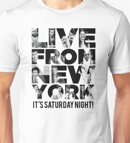 'Live From New York' - Saturday Night Live Early Cast Unisex T-Shirt