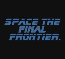 Space The Final Frontier - Star Trek Quote - T-Shirt by deanworld
