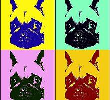 French bulldog pop art by Monika Malkowska