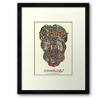 acid skull Framed Print