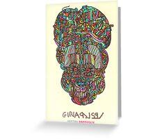 acid skull Greeting Card