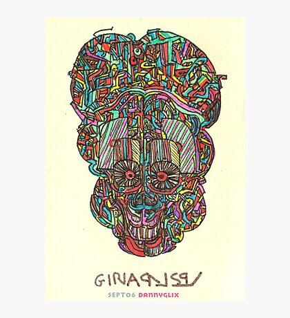 acid skull Photographic Print