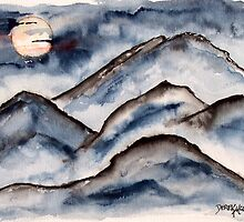 Mountains at Night by derekmccrea