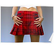 Scottish Mini dress Poster