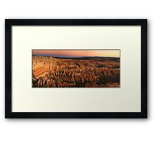 Bryce Twilight Panorama Framed Print