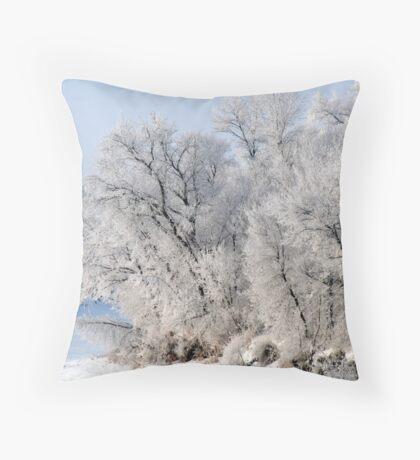 Frosty Bend Throw Pillow