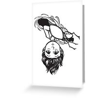 Peek-a-boo (black only) Greeting Card
