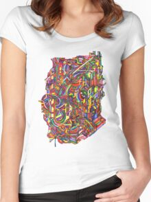 color cluster Women's Fitted Scoop T-Shirt