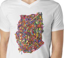 color cluster Mens V-Neck T-Shirt