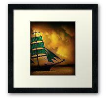 Emerald Sails Framed Print
