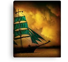Emerald Sails Canvas Print