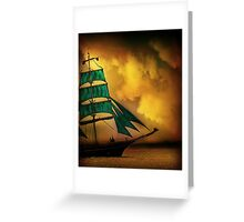 Emerald Sails Greeting Card