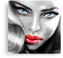 Blue Eyes Sensual sw Canvas Print