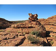 Interesting rock formations, Kings Canyon. N.Territory, Australia. Photographic Print