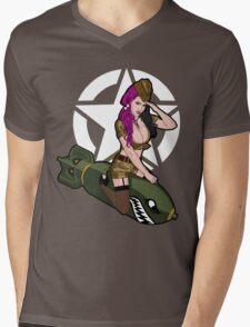Army Punk Pin Up Mens V-Neck T-Shirt