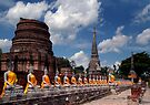 Buddhas And Temple Ruins by Dave Lloyd