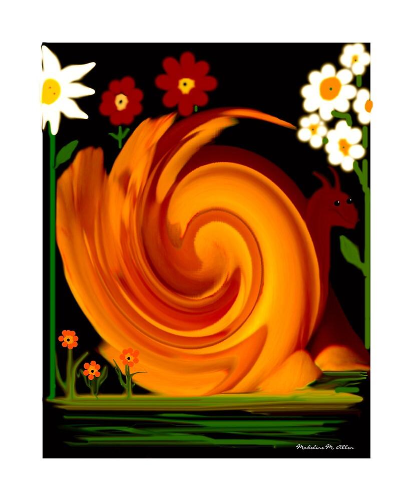 In My Garden by Madeline M  Allen