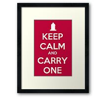 Keep calm and Carry one Framed Print