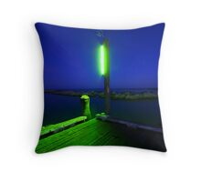 green edge Throw Pillow