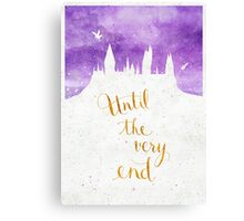 Until the very end Canvas Print