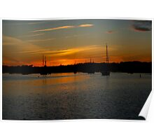 Lunenburg At Dusk Poster