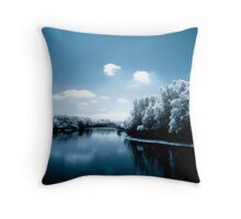 River of Tranquility Throw Pillow