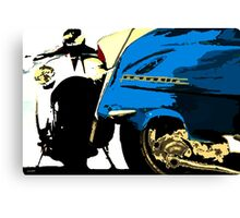 Lambretta Parking only Canvas Print