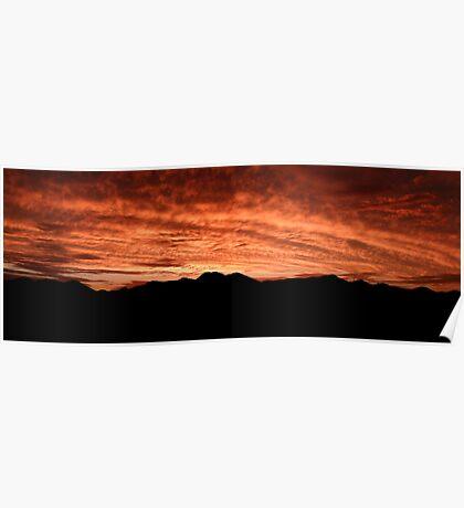 Desert Sunset In Red Poster