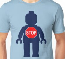 Minifig with Stop Sign Unisex T-Shirt