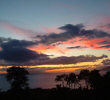 Maui Sunset by Stephanie  Triplett