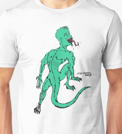 Green Psycho Lizard Unisex T-Shirt