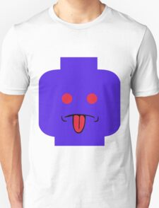 Rude Minifig Face Sticking Tongue Out T-Shirt