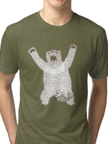 Roaring Bear (Ink) Tri-blend T-Shirt