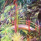Japanese Bridge Tamborine Mountain Botanical Gardens[ pastel painting] by Virginia McGowan