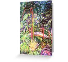 Japanese Bridge Tamborine Mountain Botanical Gardens[ pastel painting] Greeting Card