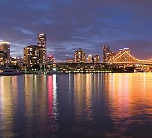 Brisbane City Night by Steven Holmes