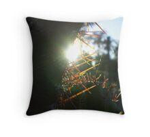 Sunset cactus Throw Pillow
